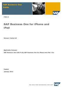 SAP Business One for iPhone and iPad
