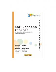 SAP Lessons Learned--Human Capital Management - Happy About ...
