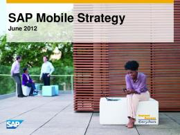 SAP Mobile Strategy