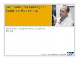 SAP Solution Manager - Solution Reporting - RBE
