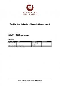 Saqifa; The debacle of Islamic Government - Knowledge