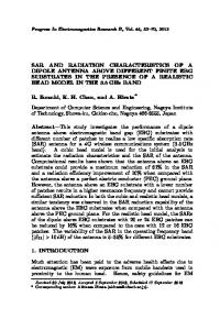 sar and radiation characteristics of a dipole antenna above different ...