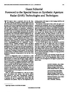 (SAR) Technologies and Techniques - IEEE Xplore