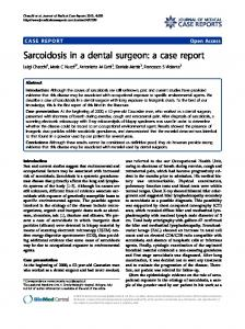 Sarcoidosis in a dental surgeon: a case report - ScienceOpen