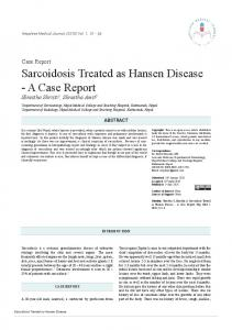 Sarcoidosis Treated as Hansen Disease - A Case Report - NepJOL