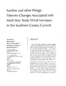 Sardine and other pelagic fisheries changes ...