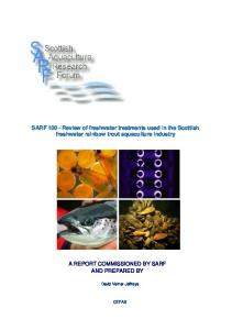 SARF 100 - Scottish Aquaculture Research Forum