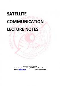 Satellite Communications - World institute of Technology