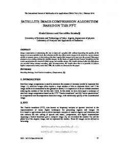 satellite image compression algorithm based on ... - Aircc Digital Library