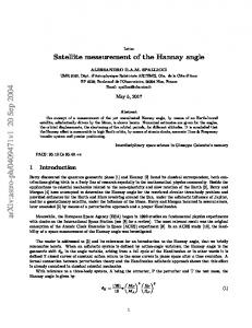 Satellite measurement of the Hannay angle