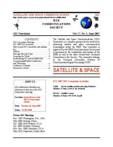 satellite & space - Satellite and Space Communications Technical ...