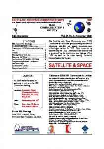 satellite & space - Satellite and Space Communications Technical