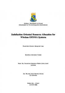 Satisfaction Oriented Resource Allocation for Wireless ...