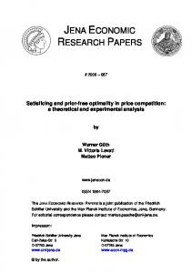 Satisficing and prior-free optimality in price competition: a theoretical