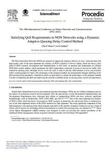 Satisfying QoS Requirements in NGN Networks Using
