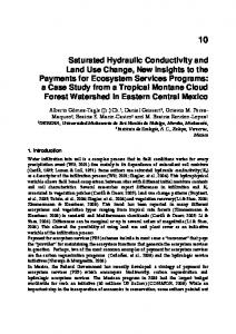 Saturated Hydraulic Conductivity and Land Use ...