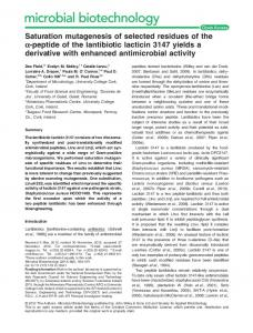 Saturation mutagenesis of selected residues of ... - Wiley Online Library
