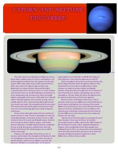 Saturn and Neptune Discovered