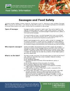 Sausages and Food Safety - Food Safety and Inspection Service