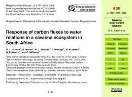 Savanna water-carbon relations