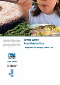 Saving Water: From Field to Fork - SIWI