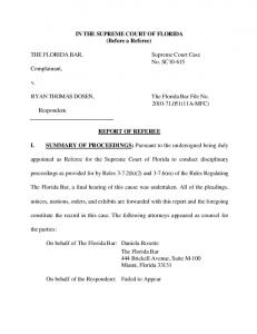 SC10-615 referee's report - Florida Supreme Court