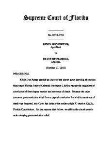 SC11-1761 Opinion - Florida Supreme Court