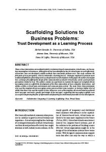Scaffolding Solutions to business Problems - Semantic Scholar