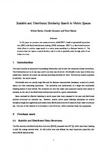 Scalable and Distributed Similarity Search in