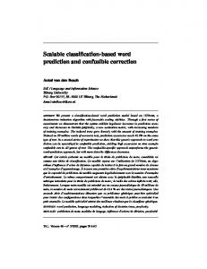 Scalable classification-based word prediction and ... - CiteSeerX