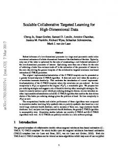 Scalable Collaborative Targeted Learning for High ... - arXiv