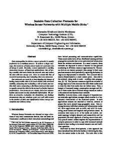 Scalable Data Collection Protocols for Wireless Sensor ... - CiteSeerX