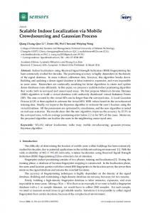 Scalable Indoor Localization via Mobile Crowdsourcing and ... - MDPI