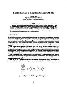 Scalable Inference in Hierarchical Generative ... - Semantic Scholar