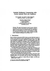 Scalable Multiparty Computation with Nearly Optimal Work and ...