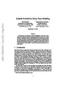 Scalable Probabilistic Entity-Topic Modeling