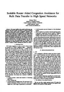 Scalable Router Aided Congestion Avoidance for ... - Semantic Scholar