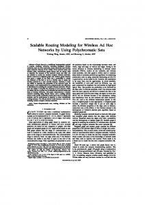Scalable Routing Modeling for Wireless Ad Hoc Networks by Using ...