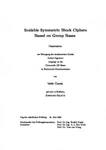 Scalable Symmetric Block Ciphers Based on