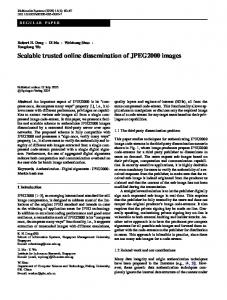 Scalable trusted online dissemination of JPEG2000 ... - Springer Link