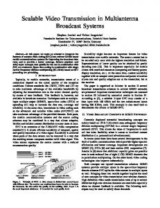 Scalable Video Transmission in Multiantenna Broadcast Systems