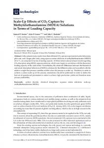 Scale-Up Effects of CO2 Capture by Methyldiethanolamine ... - MDPI