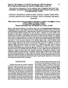 scales of variability in larval settlement within the channel islands ...