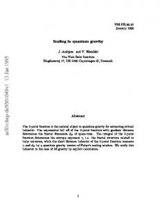 Scaling in quantum gravity