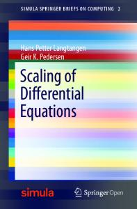 Scaling of Differential Equations - Springer Link