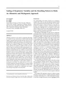 Scaling of Respiratory Variables and the Breathing ... - Semantic Scholar