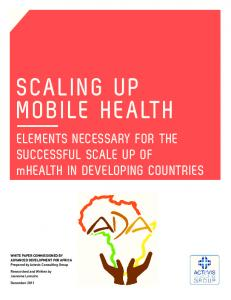 scaling up mobile health - K4Health