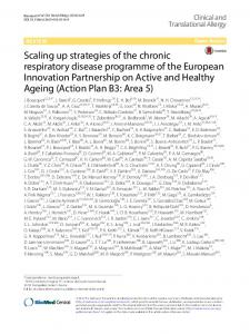 Scaling up strategies of the chronic respiratory disease programme of ...