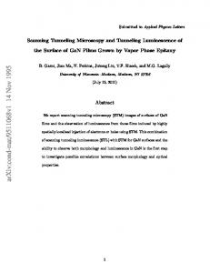 Scanning Tunneling Microscopy and Tunneling Luminescence of the ...