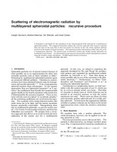 Scattering of electromagnetic radiation by ... - OSA Publishing